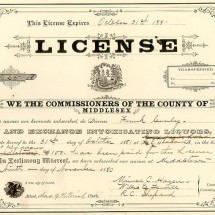 Antique Liquor License